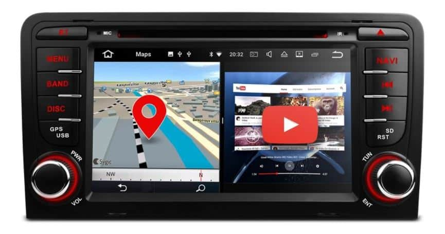 audi a3 autoradio met navigatie android 7 1 audiovolt. Black Bedroom Furniture Sets. Home Design Ideas