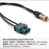 Antenne verloop / kabel- dubelle fakra antenne AUDI - SEAT - SKODA - VW 2002+   / BMW 2001+   / FORD 2011+     2x FAKRA(Z) -> DIN(male)