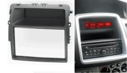 2-din inbouwframe / paneel NISSAN Primastar (J4) 2011-2014 / OPEL Vivaro (X83) 2010-2014 / RENAULT Trafic II (EL / FL / JL) 2011-2014  (w/o Car Computer)