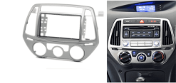 2-din inbouwframe / paneel HYUNDAI i-20 2012-2014 (Manual Air-Conditioning)