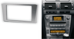 2-din inbouwframe / paneel TOYOTA Avensis 2002-2008 (Silver)
