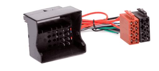 autoradio aansluitkabel / iso kabel voor VOLKSWAGEN 2002+  / AUDI - SKODA - SEAT alle modellen met Quadlock connectie