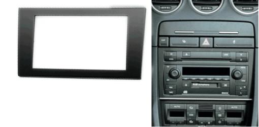 2-din inbouwframe / paneel SEAT Exeo 2009-2013 / AUDI A4 (B6) 2002-2006