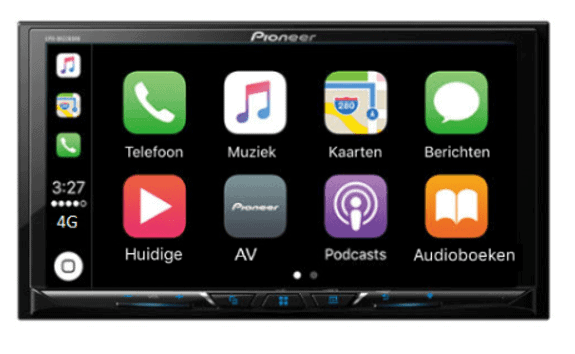 pioneer 2 din autoradio navigatie carplay android auto audiovolt. Black Bedroom Furniture Sets. Home Design Ideas