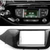 2-din inbouwframe / paneel KIA CEE'D 2012+ (Left wheel / Gloss Black)