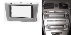 2-din inbouwframe / paneel TOYOTA Avensis (T270( 2009-2015 (Silver)