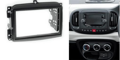 2-din inbouwframe / paneel FIAT (500L) 2012+