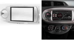 2-din inbouwframe / paneel TOYOTA Yaris 2011+ (Universal for Left and Right Wheel)