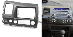 2-din inbouwframe / paneel HONDA Civic Sedan 2007-2011 (Left Wheel / Dark Grey)