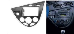 2-din inbouwframe / paneel FORD Focus 1998-2004 (Left Wheel / Black)