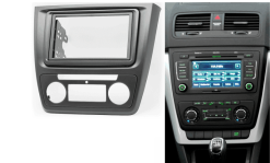 2-din inbouwframe / paneel SKODA Yeti 2009+ (Auto Air-Conditioning)