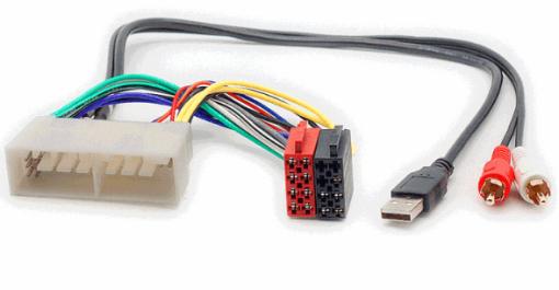 autoradio aansluitkabel / iso kabel voor HYUNDAI 2017+  / KIA 2017+   (met AUX+USB)