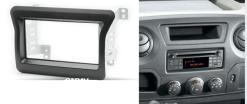 2-din inbouwframe / paneel OPEL Movano 2010+ / RENAULT Master 2010+ / NISSAN NV400 2010+
