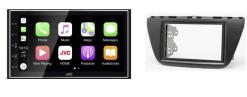 Navigatie DAB+ autoradio met Carplay en Android auto JVCKenwood voor SUZUKI SX4