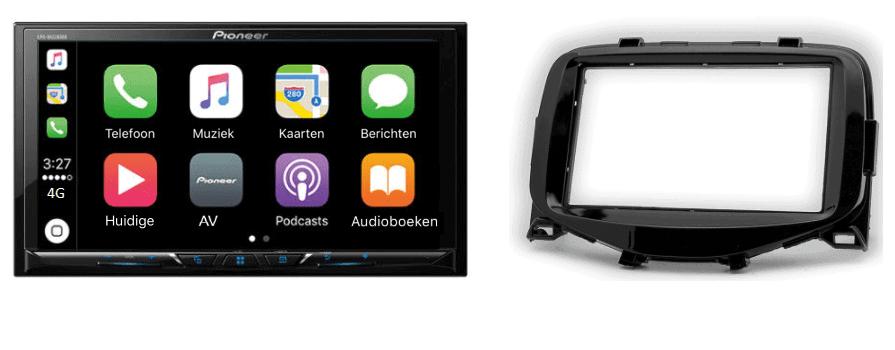 Carplay & Android incl DAB+ Pioneer autoradio navigatie CITROEN C1 / TOYOTA  Aygo / PEUGEOT (108)
