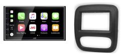 Navigatie DAB+ autoradio met Carplay en Android auto JVCKenwood voor RENAULT Trafic OPEL Vivaro