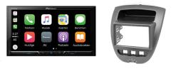 Carplay & Android incl DAB+ Pioneer autoradio navigatie CITROEN C1 / TOYOTA Aygo / PEUGEOT 107