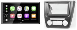 Navigatie DAB+ autoradio met Carplay en Android auto JVCKenwood voor SKODA Yeti 2009+ (Auto Air-Conditioning)