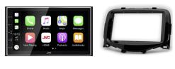 Navigatie DAB+ autoradio met Carplay en Android auto JVCKenwood voor CITROEN C1 / TOYOTA Aygo / PEUGEOT (108)