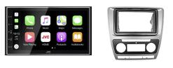 Navigatie DAB+ autoradio met Carplay en Android auto JVCKenwood voor SKODA Octavia 2008-2013