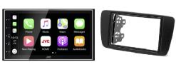 Navigatie DAB+ autoradio met Carplay en Android auto JVCKenwood voor Seat Ibiza 2008 -2012