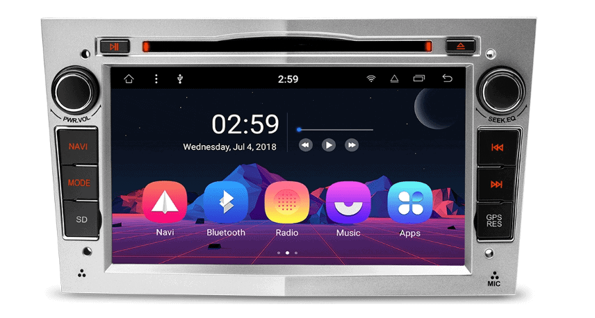 Goede Android 8.1 navigatie autoradio Opel o.a. Corsa D, Astra H, Zafira RI-88